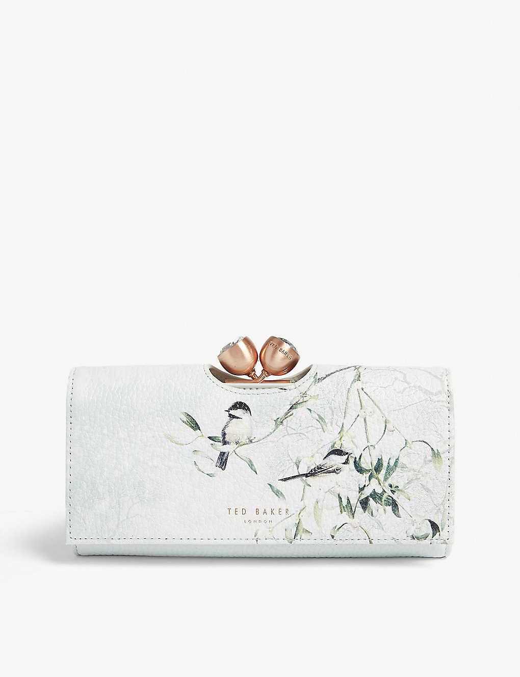 e2e90be9ca9 TED BAKER - Mistletoe kiss leather purse   Selfridges.com