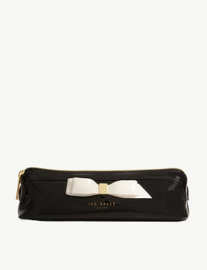 TED BAKER Casella bow pencil case