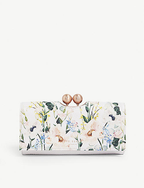 fb33a3226 TED BAKER Clarita Elegant print bobble clasp leather purse