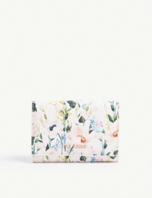 TED BAKER Esma floral leather mini purse