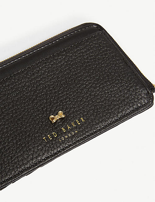 TED BAKER Lotta zip-around leather card holder
