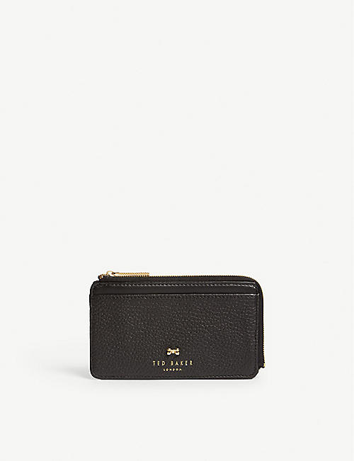210bc01dd96 TED BAKER Lotta zip-around leather card holder