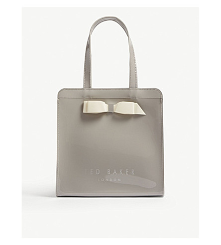 a5d0bfae8201c ... Bow detail small tote bag (Grey. PreviousNext