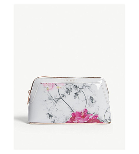 34c8cfe8441ef0 ... TED BAKER Babylon floral-print makeup bag (Grey. PreviousNext