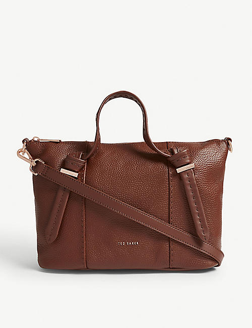 adac57ffd210 TED BAKER Olmia grained leather small tote