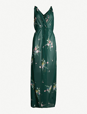 bf5775335032 TED BAKER - Velrano floral-print tie-waist chiffon cover-up ...
