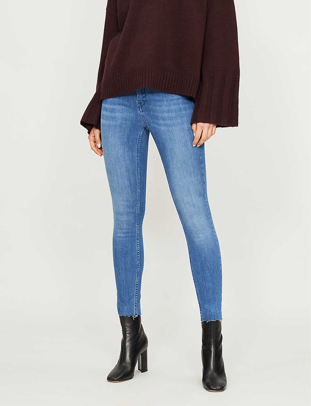 afb6203cd TED BAKER - Aaciee raw-hem skinny mid-rise jeans