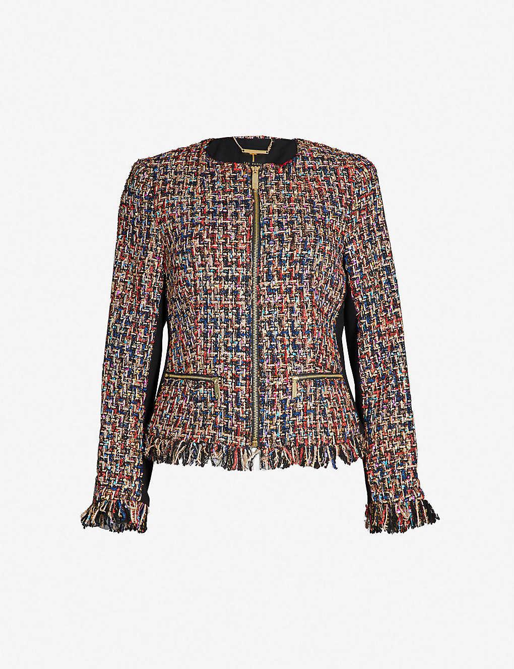 ed0882b18 TED BAKER - Lorella bouclé tweed jacket