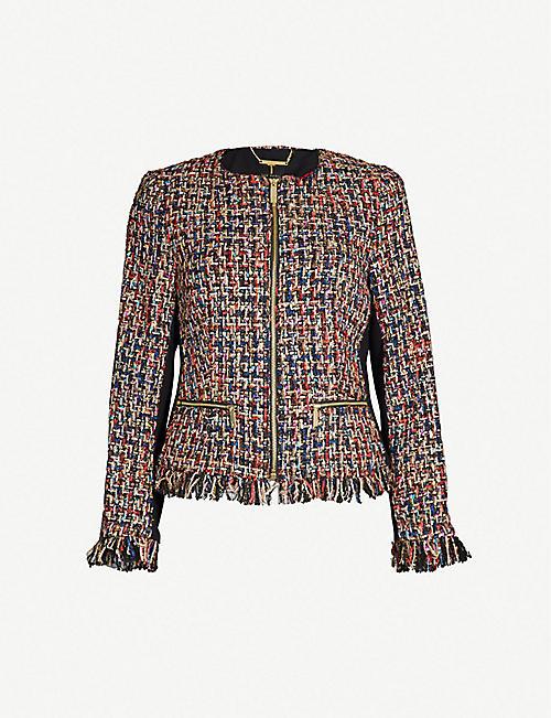 TED BAKER Lorella bouclé tweed jacket 35313e9dc9