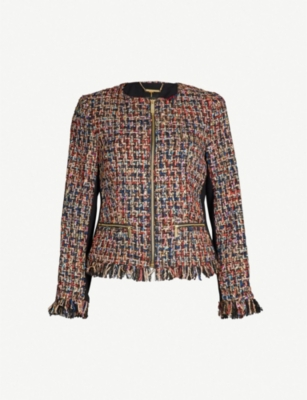 TED BAKER Lorella bouclé tweed jacket