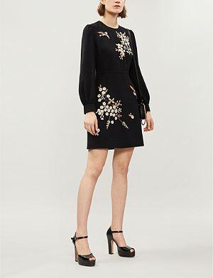TED BAKER Lillian Graceful embroidered crepe dress b955de7b1