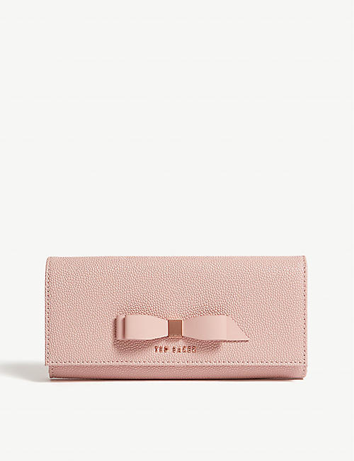 TED BAKER Loretta matinee leather purse with card holder