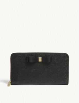 70024216d TED BAKER · Bow detail leather matinee purse