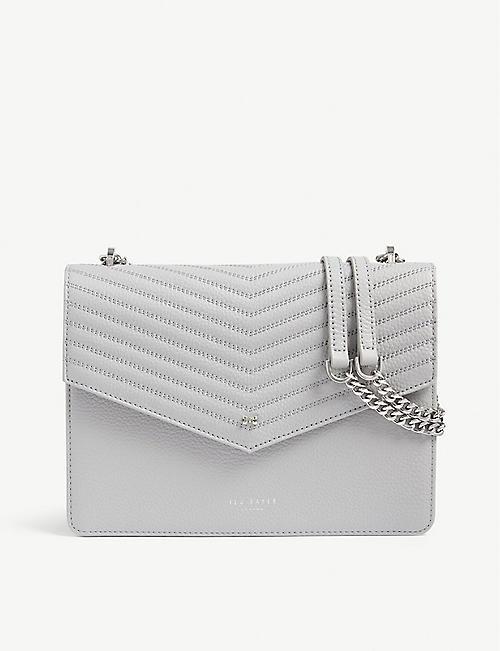 1547862610024 TED BAKER Kalila envelope leather cross-body bag