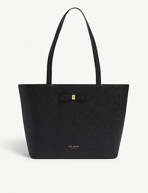 5ccb71624ef6 TED BAKER Bow detail leather tote