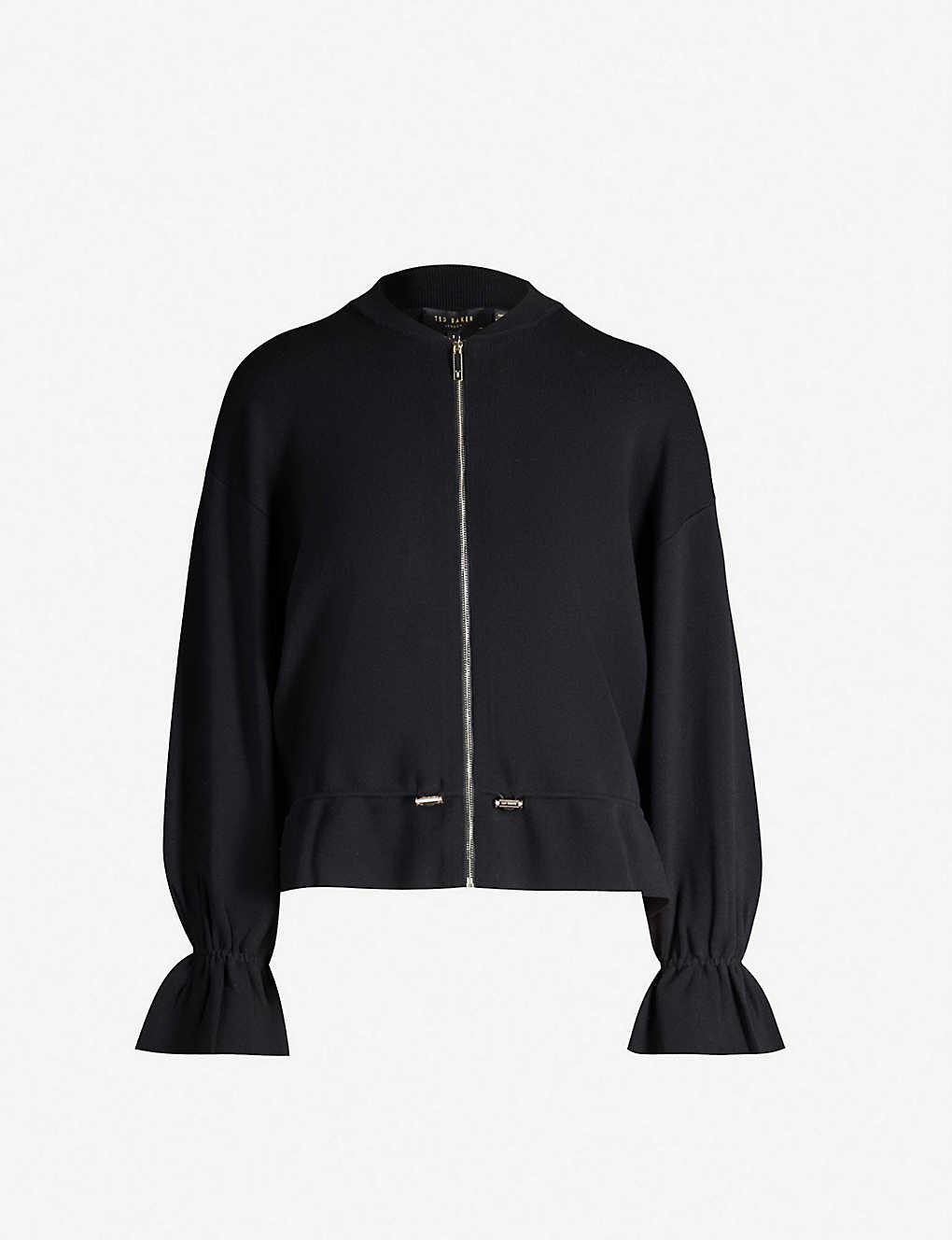 b2218c47b TED BAKER - Amillia drawstring knitted bomber jacket