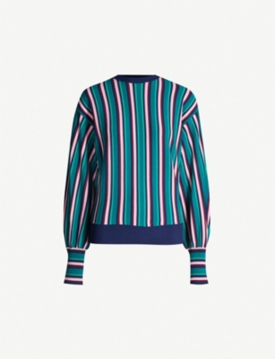 TED BAKER Kionai vertical stripe knitted jumper