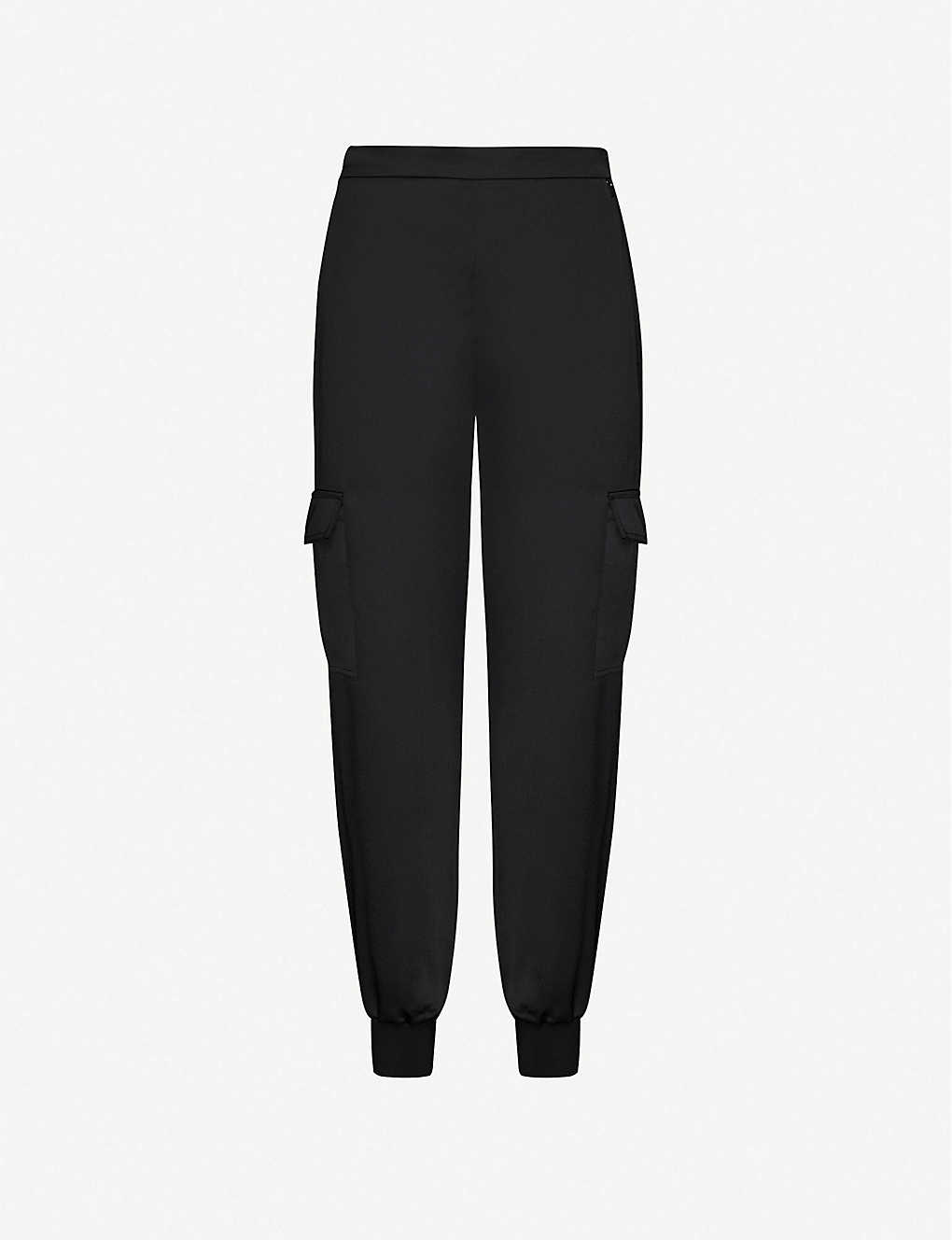 TED BAKER: Sulia satin cargo jogging bottoms