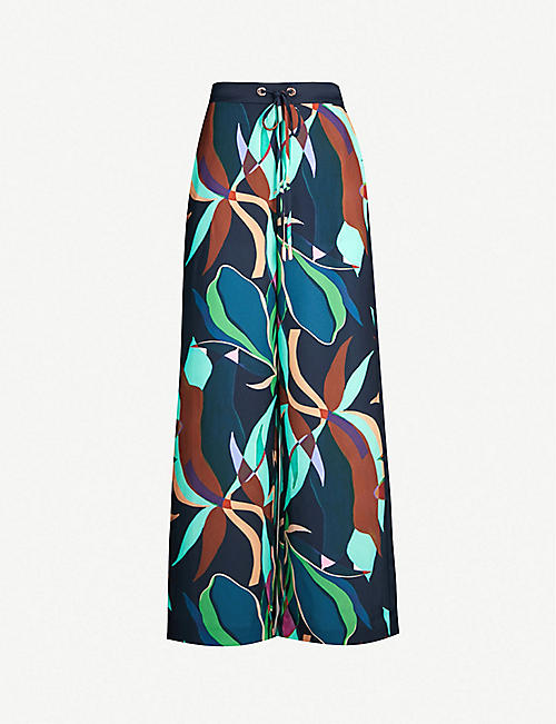 TED BAKER Glooria crepe-satin trousers