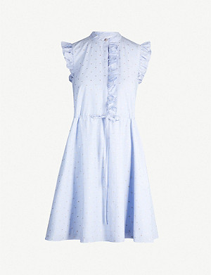 TED BAKER Beyonc ruffle shift cotton-blend dress