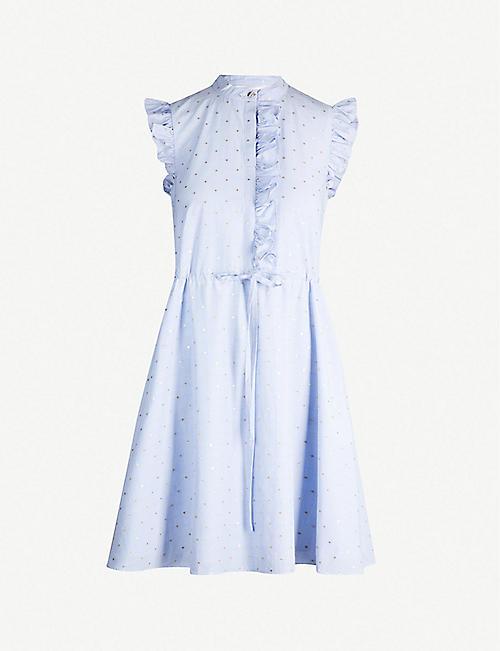 317079f15be8 TED BAKER Beyonc ruffle shift cotton-blend dress