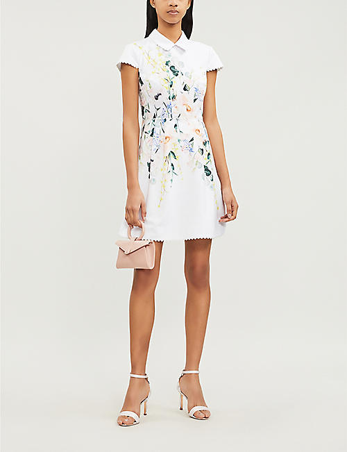 cb9e3845ab7dea TED BAKER Charsy Elegance-print ponte dress. Quick Shop