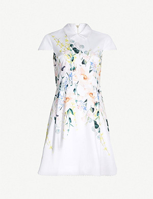 TED BAKER Charsy Elegance-print ponte dress