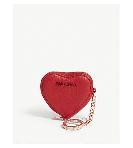 64445b5af TED BAKER Kahi leather heart coin purse (Black