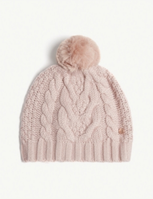 5839534f2a7cf TED BAKER - Quirsa cable knit beanie