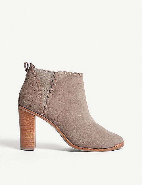 230559ab5d12 TED BAKER Nurely scalloped suede ankle boots