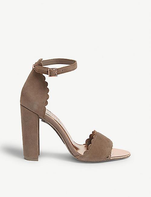 904470337 TED BAKER Raidha suede block heel sandals