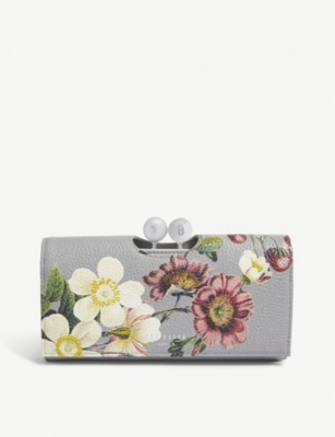 TED BAKER Abellon floral leather matinee purse