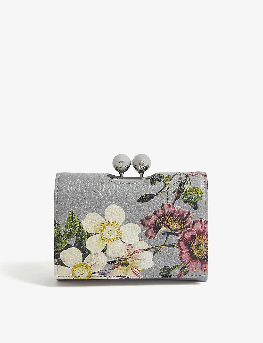 c6cc6c3df6db TED BAKER - Abilia mini floral leather purse | Selfridges.com