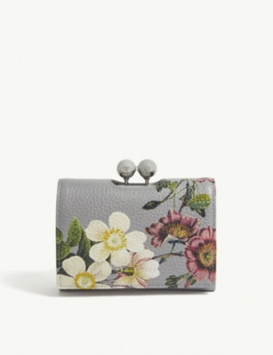 TED BAKER Abilia mini floral leather purse