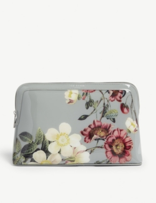TED BAKER Jodelle floral PVC wash bag