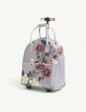 c3ba4278d3ae TED BAKER · Glloria floral nylon two-wheel cabin suitcase
