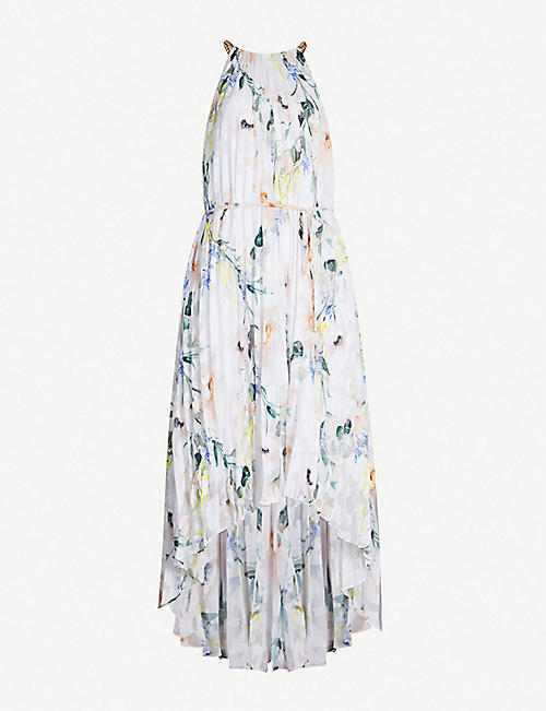 da1d21ac3 TED BAKER Valetia Elegance-print pleated devoré dress