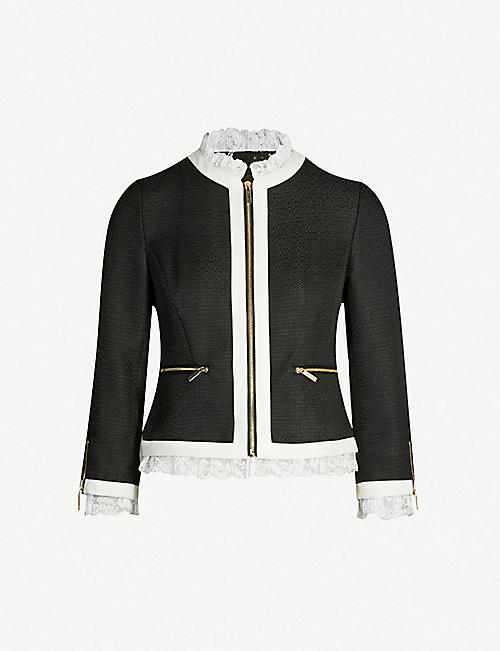 0c542611d65 TED BAKER Ennio cropped woven jacket