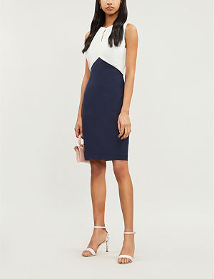 a6b78a6e289bff TED BAKER Zamelid fitted sleeveless crepe dress