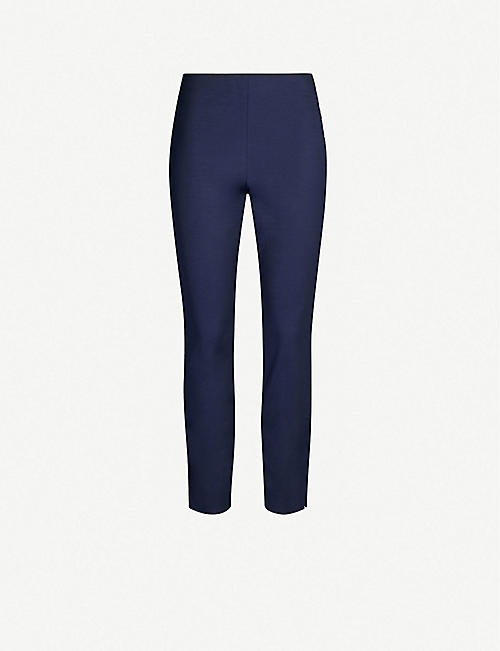 088836e10 TED BAKER Cropped high-rise slim-fit stretch-jersey trousers