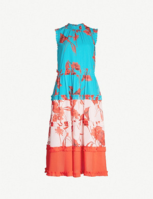 TED BAKER Camelis tiered crepe midi dress