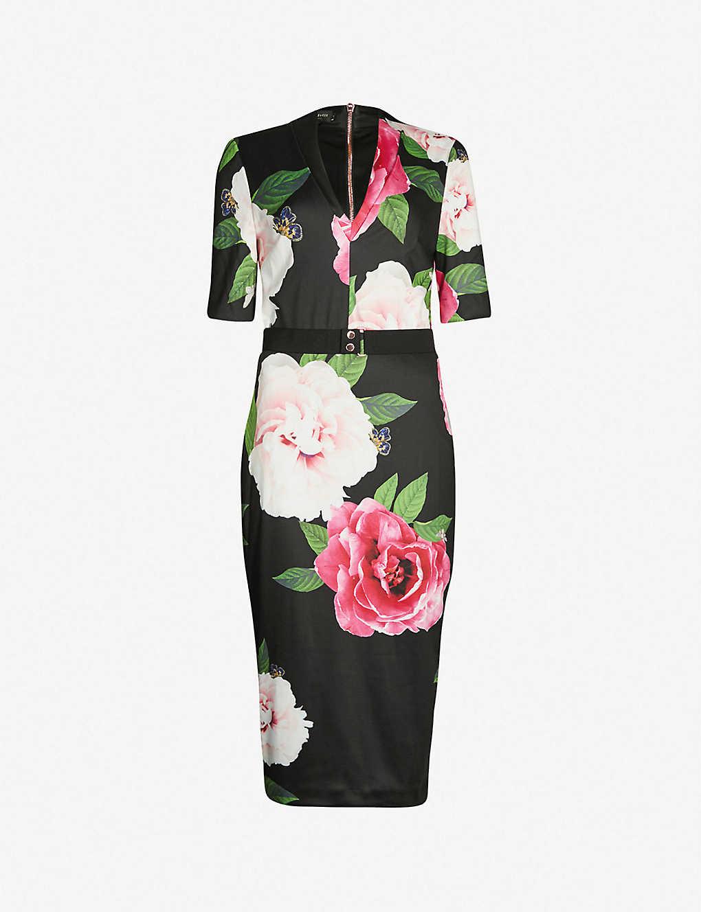 0c200e7f224e TED BAKER - Gilanno floral-print bodycon jersey dress