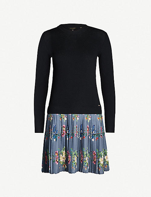 c2639d1e12a TED BAKER Izitaa oracle-print knitted dress