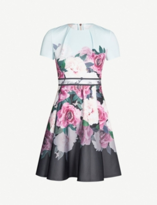 TED BAKER Wilmana magnificent-print jersey skater dress
