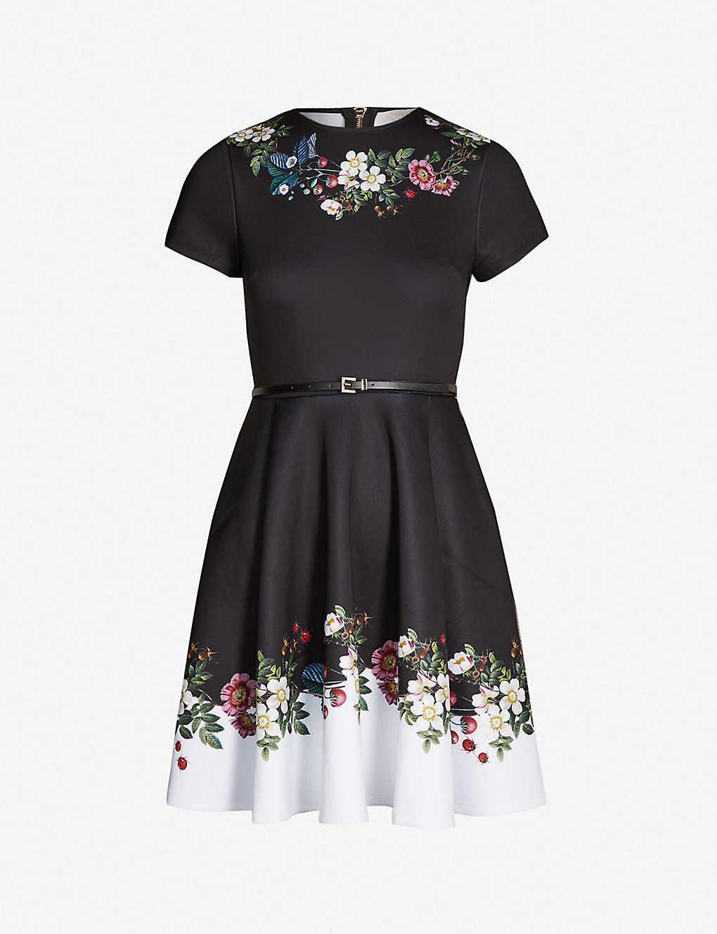641c4ddb9 TED BAKER - Chestna oracle-print jersey skater dress
