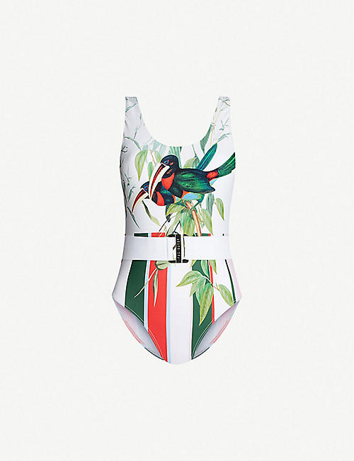 TED BAKER Analee exotic-print swimsuit