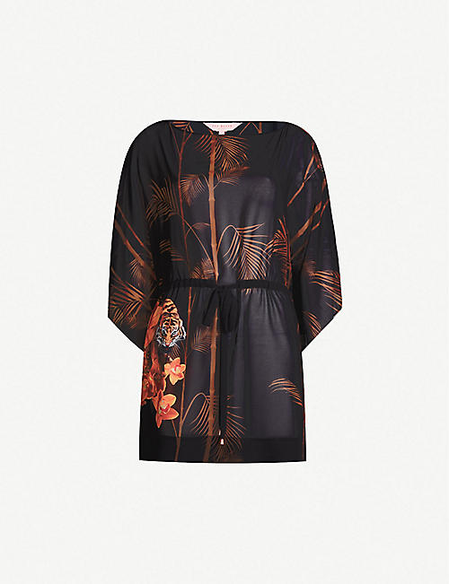2372eeaa7 TED BAKER Cemiaa floral-print crepe cover-up