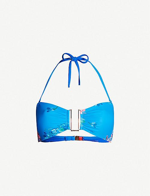 103d1877e TED BAKER Novemi floral-print bikini top