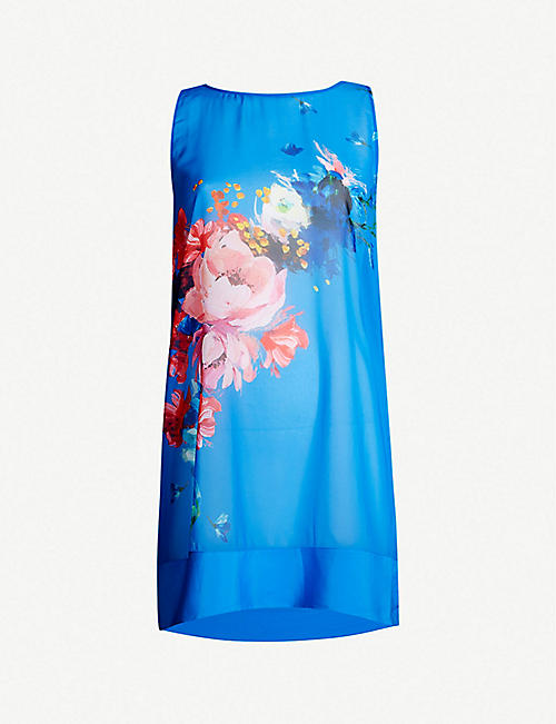 1a3143d6a63a TED BAKER Novya floral-print crepe dress
