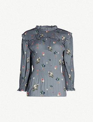 TED BAKER Oracle print Horili pleated top